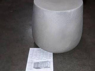 noble house home furnishing concrete finish drum