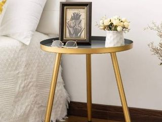 Round Side Table  Metal End Table