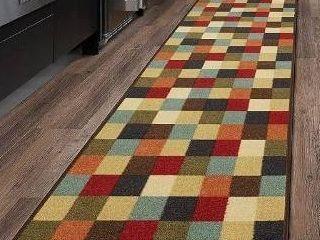Ottomanson otto home collection runner rug  21  X 59  Multicolor Checkered