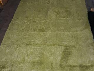 Velvet Area Rug lime Green 7 5  A 5 2