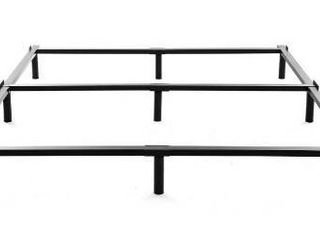 King Size Metal Bed Frame 7 Inch Heavy Duty Bedframe  9 leg Support for Box Spring   Mattress Foundation  3000lBS  Black