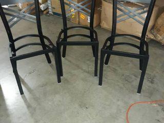 Three Steel Frame Seats