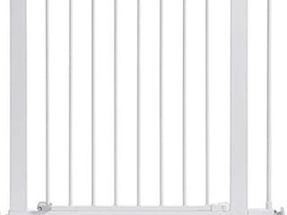 Munchkin Easy Close Pressure Mounted Baby Gate for Stairs  Hallways and Doors  Walk Through with Door  Metal  White