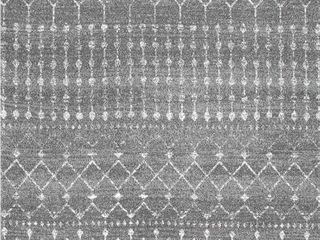 nulOOM Moroccan Blythe Area Rug  4 feet x 6 feet  dark grey