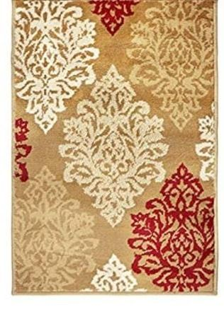 Superior Danvers Collection Area Rug  Modern Elegant Damask Pattern  10mm Pile Height with Jute Backing  Affordable Contemporary Rugs   Beige 2A3