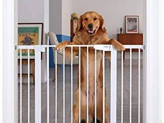 Cumbor Auto Close Safety Baby Gate  Extra Tall and Wide Child Gate  Easy Walk Thru Durability Dog Gate for The House  Stairs  Doorways
