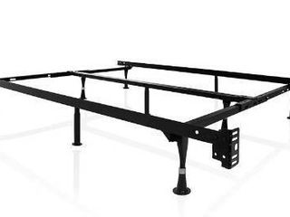 MAlOUF STRUCTURES Heavy Duty 9 leg Adjustable Metal Bed Frame with Double Center Support and Glides Only   UNIVERSAl  Cal King  King  Queen  Full Xl  Full  Twin Xl  Twin  Standard