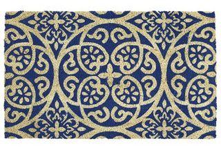 DII Blue Tunisia Scroll Doormat