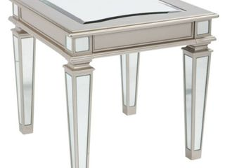 Tessani End Table Silver Finish   Signature Design by Ashley
