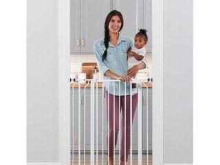 Regalo Extra Tall Easy Step Metal Walk Through Baby Gate   White