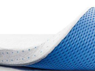 ViscoSoft 3 Inch Memory Foam Mattress Topper Full   Select High Density Ventilated Mattress Pad