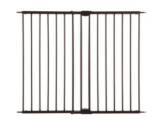 Toddleroo by North States Easy Swing and lock Baby Gate  28 68 47 85  Wide  Matte Bronze