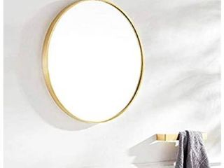 TinyTimes 27 56  Modern large Round Mirror  Accent Mirror  Round Wall Mirror  Brushed Framed  Circle Metal Mirror  Wall Decor  for Bathroom  living Rooms  Entryways   Gold