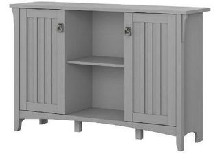 Bush Furniture Salinas Accent Storage Cabinet with Doors in Cape Cod Gray