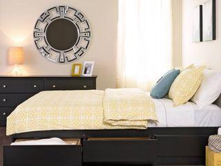 Prepac BBD 5600 3C Coal Harbor Mates Platform Storage Bed with 6 Drawers  Black  Drawers Only