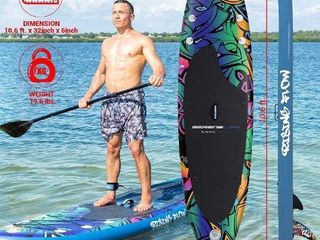Serenelife Inflatable Stand Up Paddle Board Durable Stable Material Graffiti