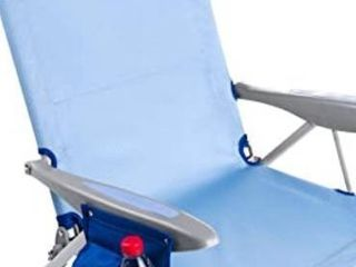 Wejoy Aluminum lightweight 4 position Adjustable low Seat Folding Beach Chai