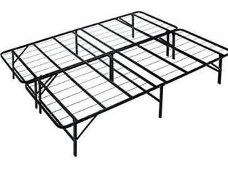 metal platform bed king size 76 by 80 x 14 in