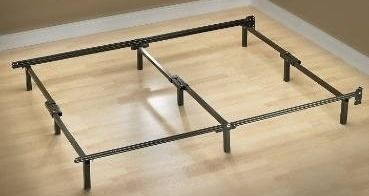 King Size Bed Frame Metal Platform Heavy Duty Folding Mattress Foundation Base
