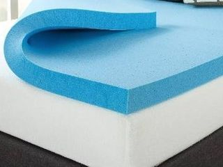 Zinus 1 5 Inch Swirl Gel Memory Foam Convoluted Mattress Topper   Queen
