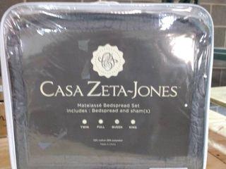 Casa Zeta Jones matelasse Jacquard Queen bedspread