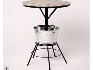 Oasis Round Outdoor Bar Table with Ice Bucket