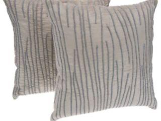 2 Inspire Me  Home Decor Velvet luster 18  x 18  Pillows BEIGE