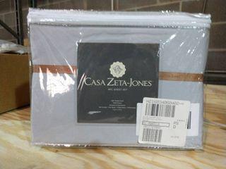 Casa Zeta Jones 400 Thread Count Grey Sheets   Queen Size