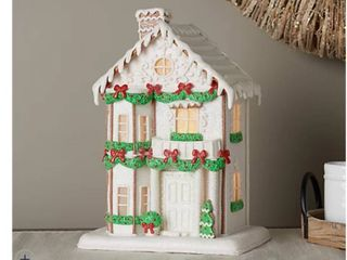 13  Illuminated Gingerbread Townhouse by Valerie