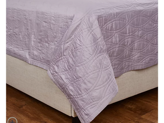 Northern Nights Cotton Embroidered Coverlet with Sham   Queen