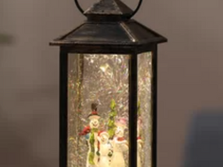 Holiday Snowman Family in lED lantern
