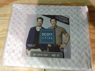 Twin Scott living 400 thread count sheet set