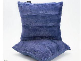 Dennis Basso 18  x 18  Set of 2 Faux Fur Pillows