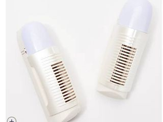 Air Innovations Set of 2 Plug In Air Purifiers with Nightlight