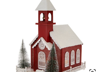 As Is   Illuminated Pierced Metal Church by Valerie