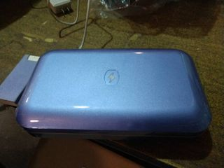 Periwinkle   Phone Soap UV Sanitizer   Charger w  Phone Shine by lori Greiner