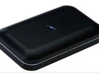 Metallic Black   Phone Soap UV Sanitizer   Charger w  Phone Shine by lori Greiner