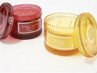 Homeworx by Harry Slatkin Candles  Vanilla Currant Biscotti   limoncello Cupcake