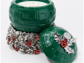 Homeworx Green filled Ornament and Candle Holder Green