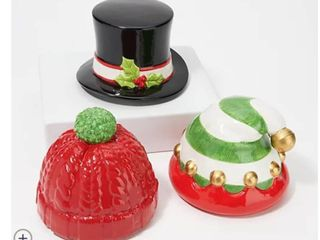 HomeWorx by Harry Slatkin Set of 3 Holiday Hat Candle Toppers