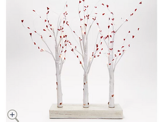 3 Piece Illuminated Birch Forest Centerpiece by Valerie