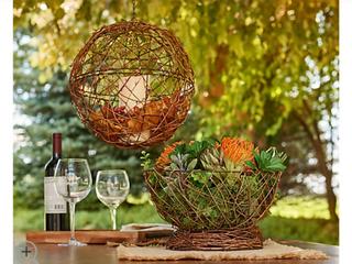 Barbara King S 2 Grapevine  Bronze Metal or Galvanized 12  Sphere