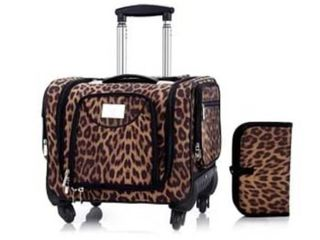 lori Greiner Weekender leopard Travel set