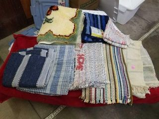 VARIETY OF THROW RUGS  DIFFERENT lENGTHS AND