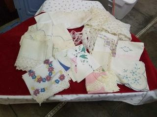 NUMEROUS SIZES AND SHAPES ClOTH DOIlIES AND