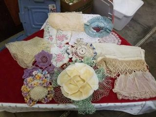 VARIOUS DOIlIES  SOME VINTAGE  CROCHETED AND