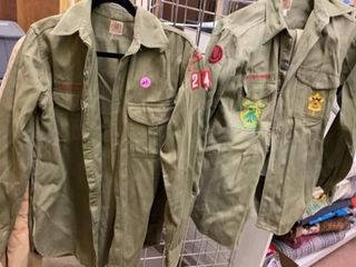 2 VINTAGE BOY SCOUT SHIRTS AND 1 PAIR OF PANTS