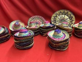 ABOUT 80 OR SO MEXICAN PITTlE PARTY HATS AND