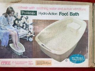 1973 POllENAX HYDRO ACTION FOOT BATH