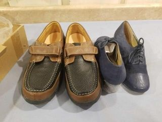 WOMENS SIZE 11 SHOES AND MENS SIZE 14 NEW SHOES
